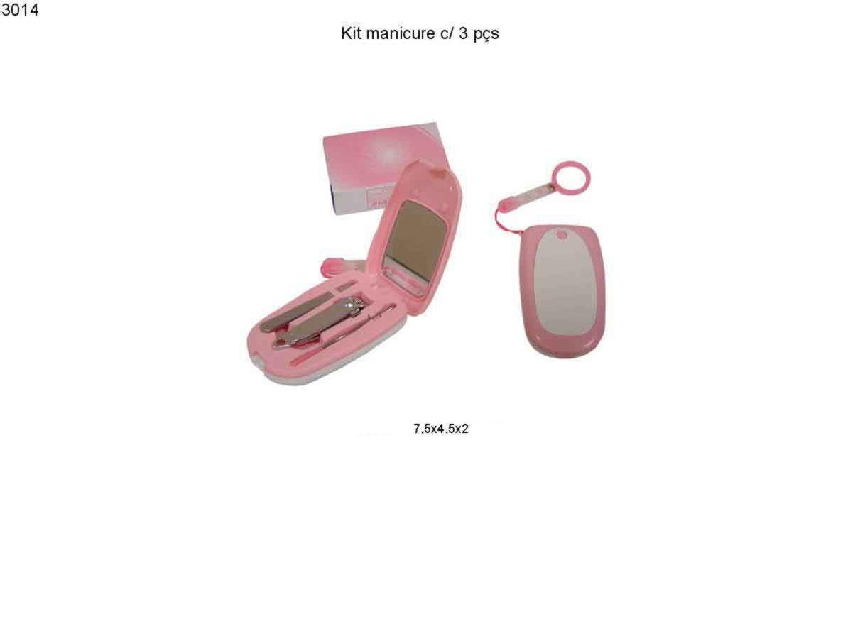 Kit manicure c/ 3 pcs (3014)
